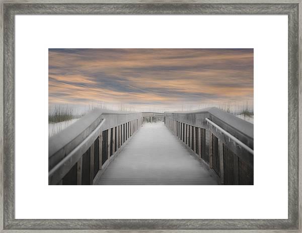 Beach Boardwalk Framed Print