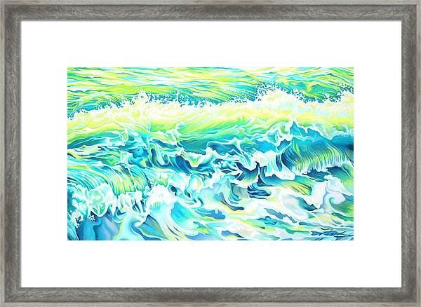Beach Break Wave Framed Print