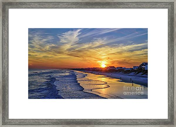 Framed Print featuring the photograph Beach Bum by DJA Images