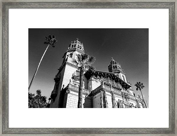 Beach House, Black And White Framed Print