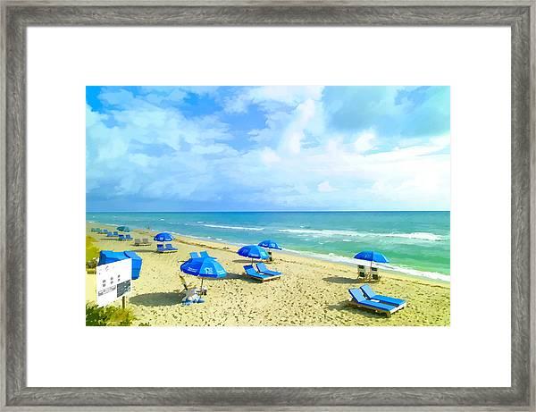 Beach Chairs Framed Print