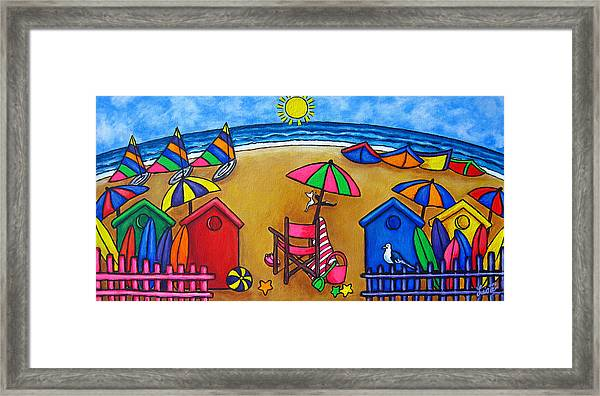 Beach Colours Framed Print