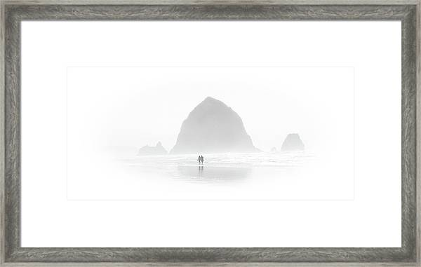 Beach Combers Framed Print