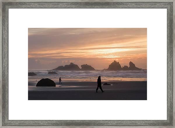 Beach Combers  Framed Print