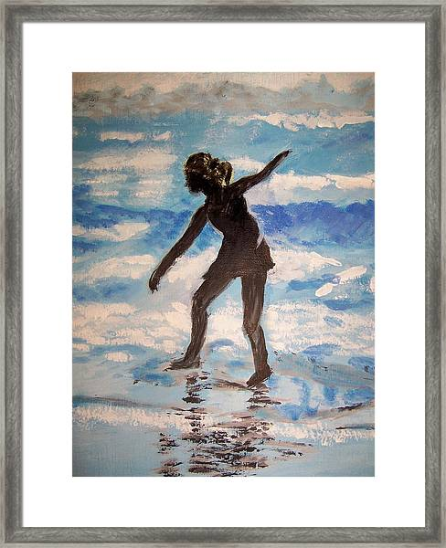 Beach Dancer Framed Print by Ann Whitfield