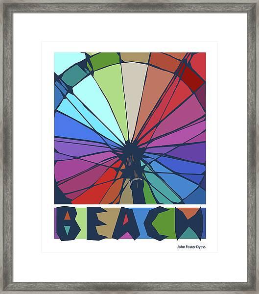 Beach Design By John Foster Dyess Framed Print