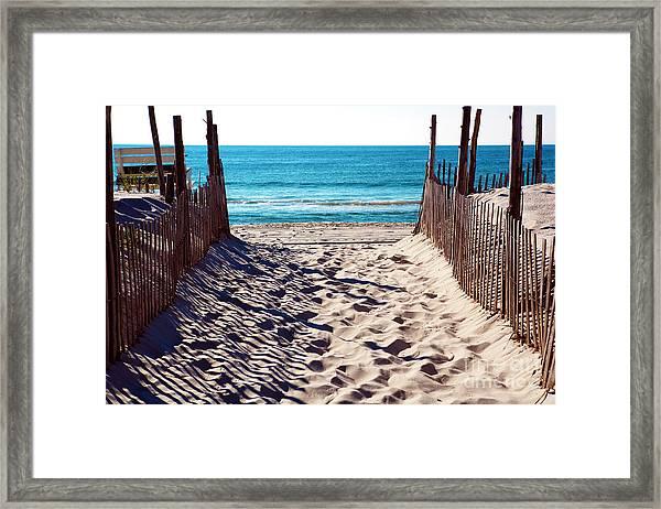 Beach Entry On Long Beach Island Framed Print