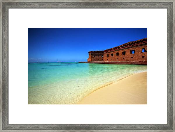 Beach Fort. Framed Print