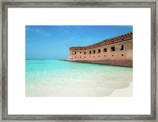 Beach Fort Framed Print