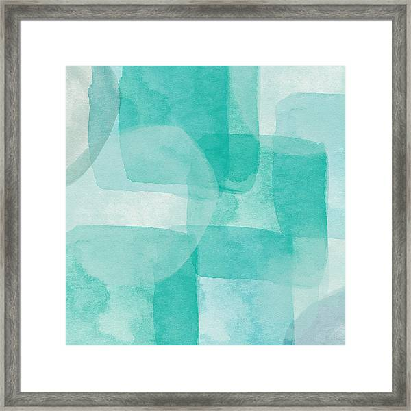 Beach Glass- Abstract Art By Linda Woods Framed Print