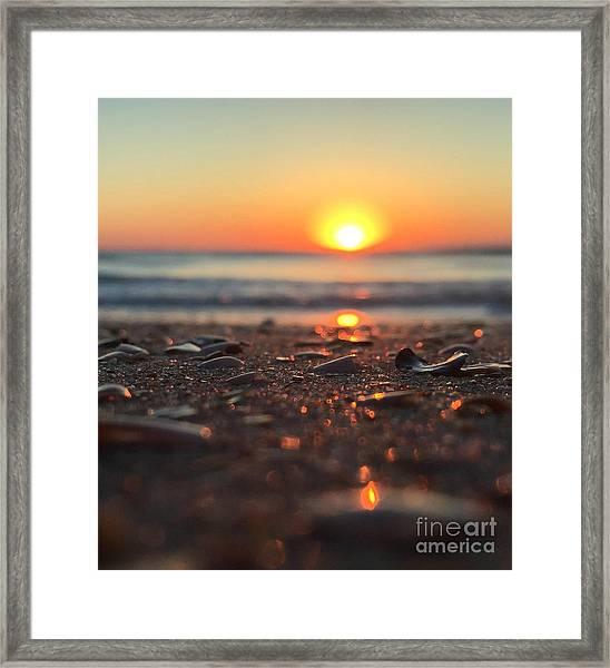 Beach Glow Framed Print