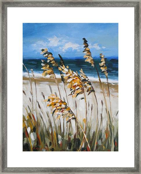 Beach Grass Framed Print