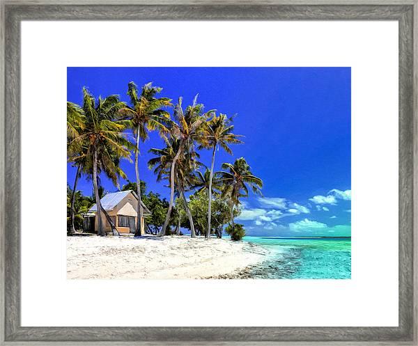 Beach Hale On Maupiti Island Framed Print