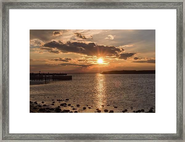 Beach Haven Nj Sunset January 2017 Framed Print