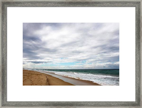 Beach Horizon - Surfer's Paradise Framed Print