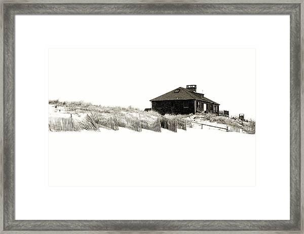 Beach House - Jersey Shore Framed Print