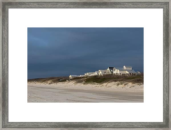 Beach Houses Framed Print