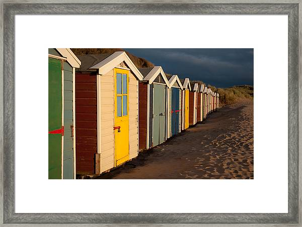 Beach Huts II Framed Print