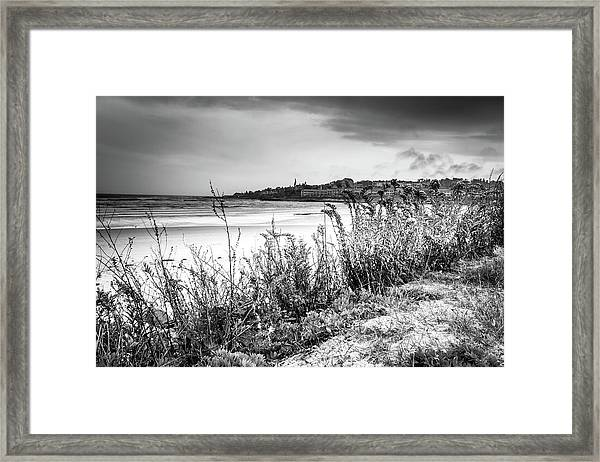 Beach In Ogunquit Framed Print
