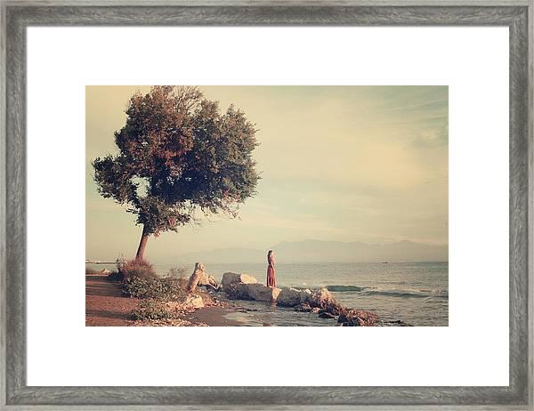 Beach In Roda - Greece Framed Print