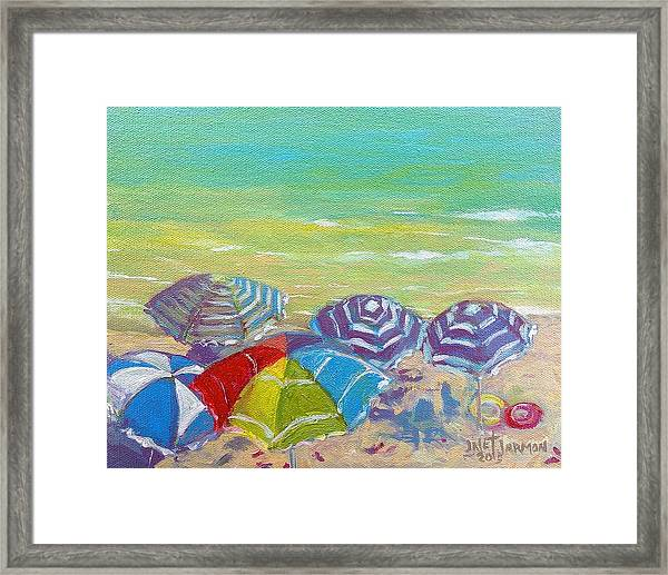 Beach Is Best Framed Print