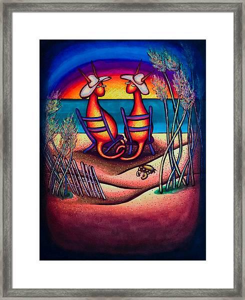 Beach Kats Framed Print