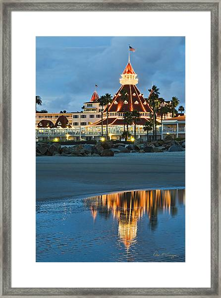 Beach Lights Framed Print