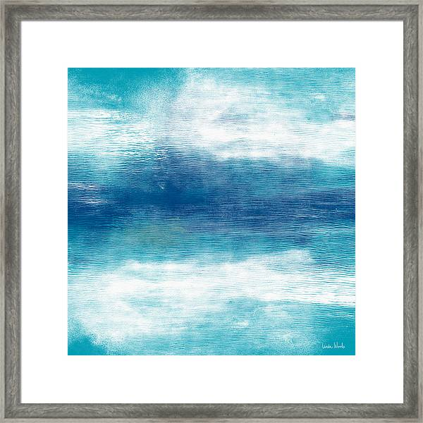 Beach Mood 2- Abstract Art By Linda Woods Framed Print