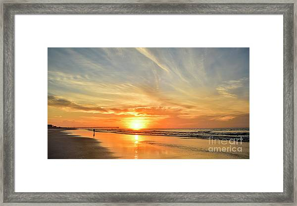 Framed Print featuring the photograph Beach Of Gold by DJA Images