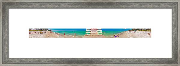 Beach Panorama Framed Print