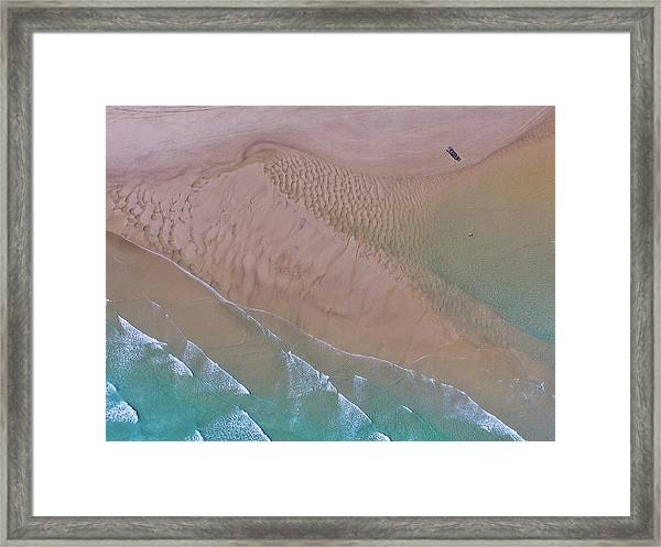 Beach Patterns At North Point On Moreton Island Framed Print