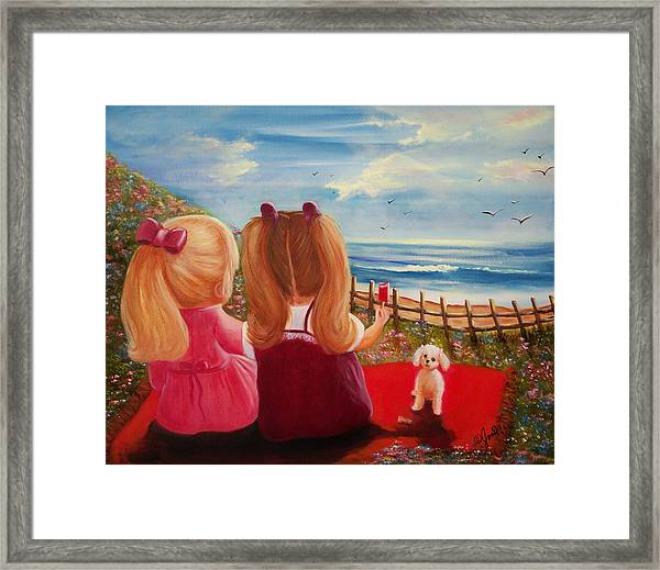 Beach Picnic Framed Print