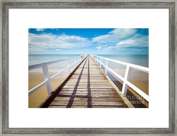 Beach Pier 1 Framed Print