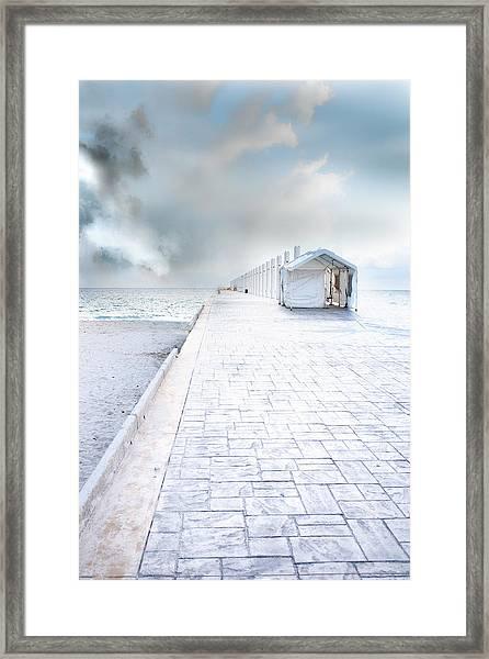 Beach Pier Framed Print