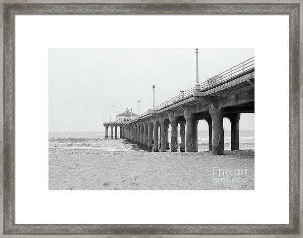 Beach Pier Film Frame Framed Print
