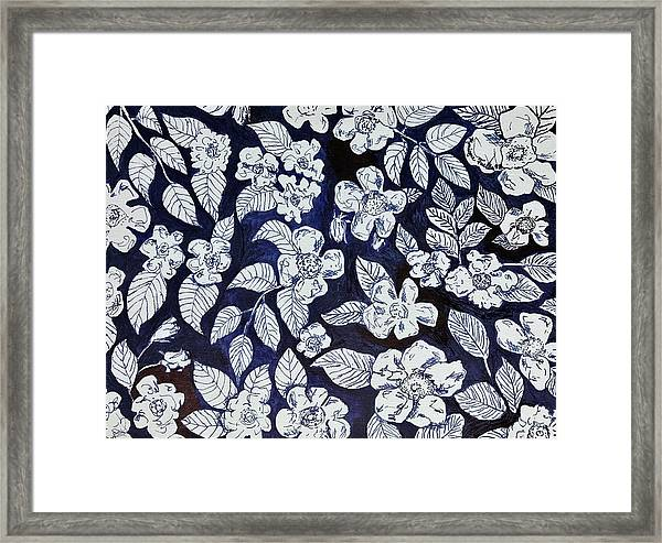 Beach Rose Pattern Framed Print