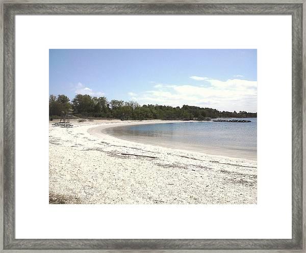 Beach Solomons Island Framed Print