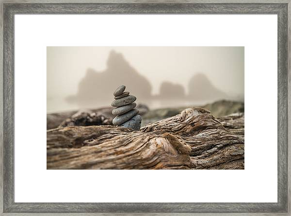 Beach Stack Framed Print