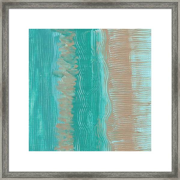 Beach Stripes  Framed Print