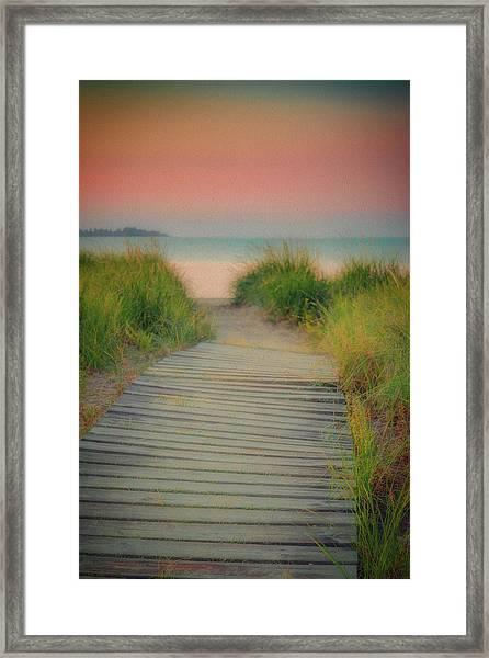 Beach Sunrise Framed Print