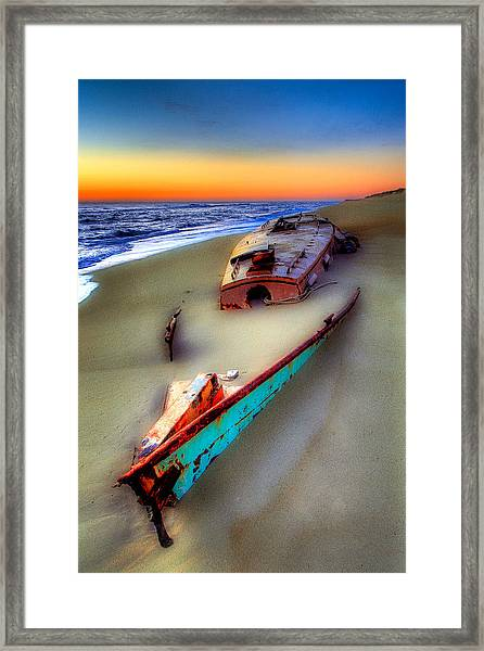 Beached Beauty Framed Print by Dan Carmichael