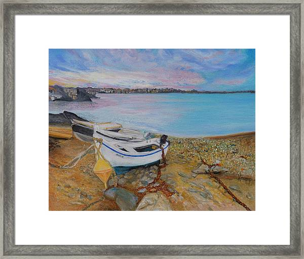 Beached Boats Framed Print