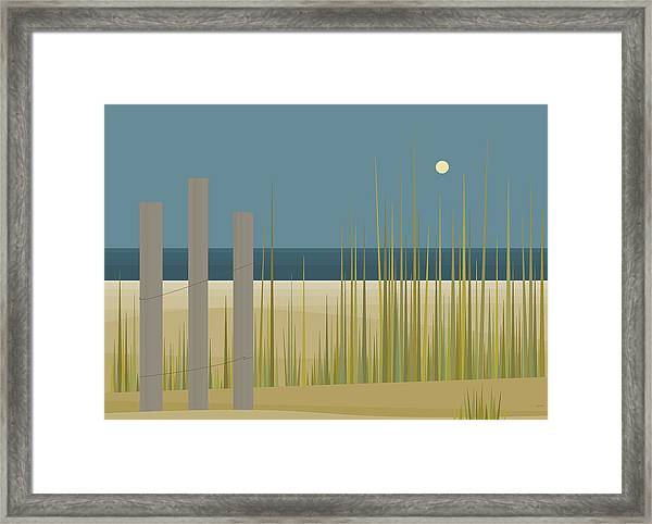 Beaches - Fence Framed Print