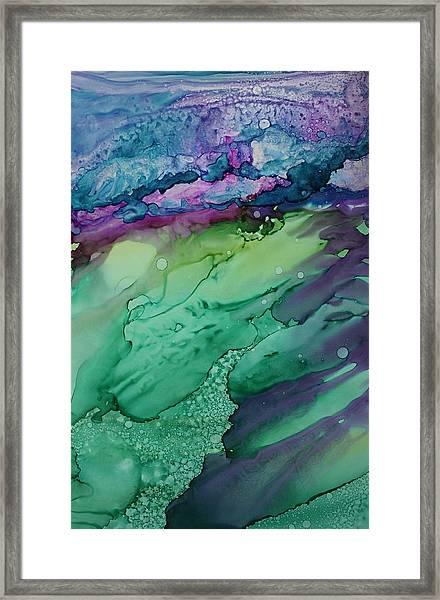 Beachfroth Framed Print