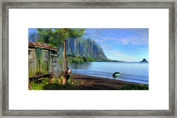 Beachhouse Framed Print
