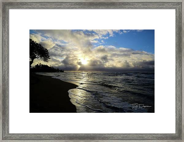 Beachy Morning Framed Print