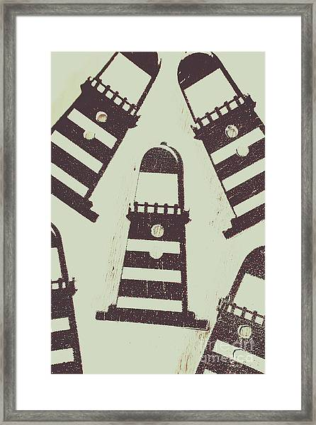 Beacon Buttons Framed Print