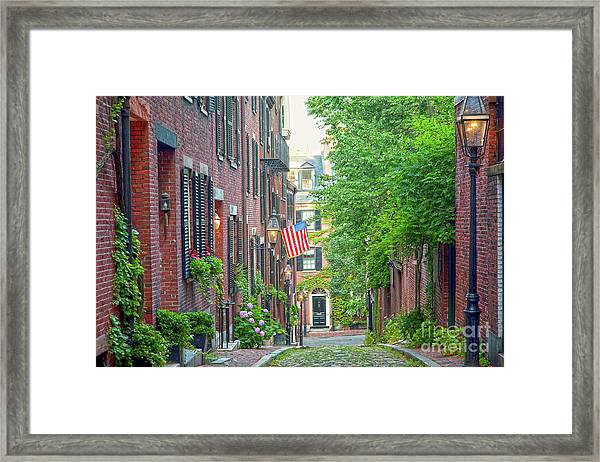 Framed Print featuring the photograph Beacon Hill by Susan Cole Kelly