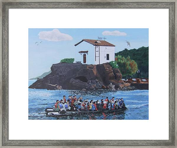 Framed Print featuring the painting Beacon Of Hope by Eric Kempson