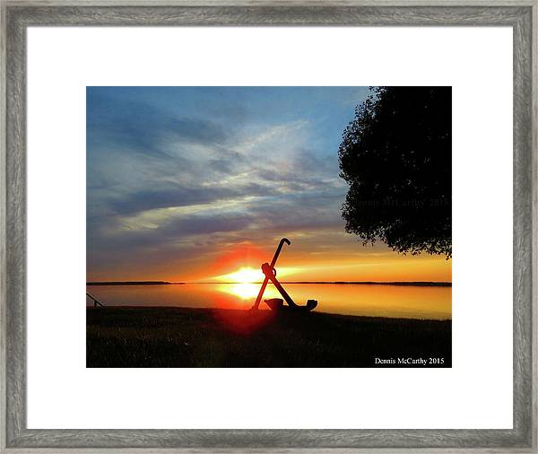 Beadles Point Sunset Framed Print